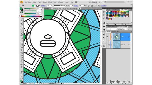 Color palette tips and tricks: Illustrator CS4 One-on-One: Fundamentals
