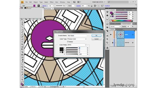 Trapping gaps with rich blacks: Illustrator CS4 One-on-One: Fundamentals