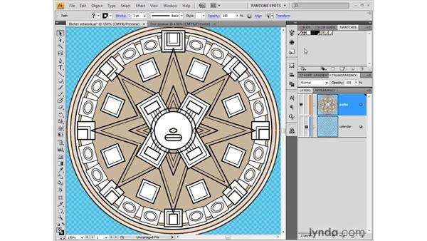 Filling and stacking shapes: Illustrator CS4 One-on-One: Fundamentals