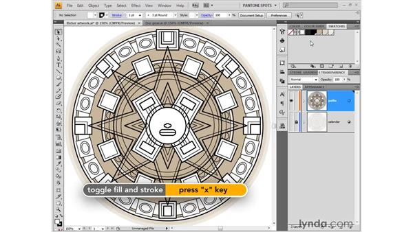 Dragging and dropping swatches: Illustrator CS4 One-on-One: Fundamentals