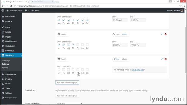 Adding a reservations feature: WordPress DIY: Restaurant Website