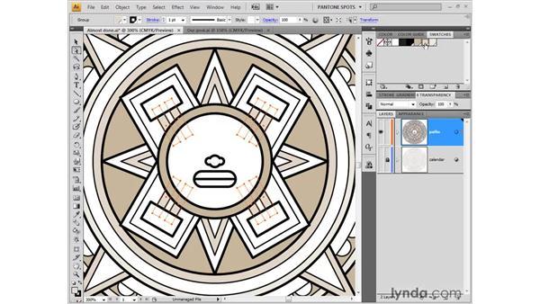 Filling shapes inside groups: Illustrator CS4 One-on-One: Fundamentals