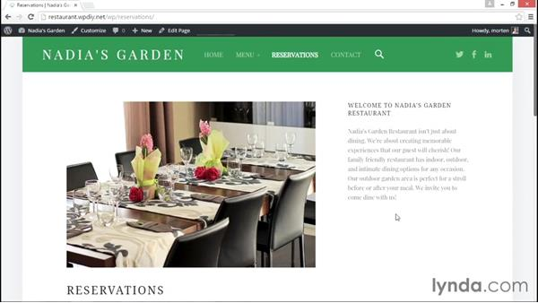 Checking that the site meets with specifications: WordPress DIY: Restaurant Website