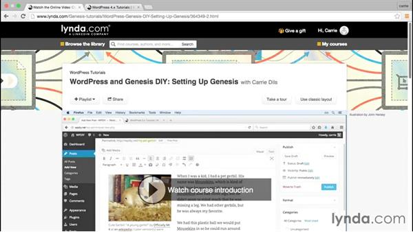 What you'll need to follow this course: WordPress and Genesis DIY: Restaurant Website