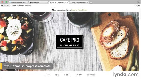 Roundup of suitable themes: WordPress and Genesis DIY: Restaurant Website