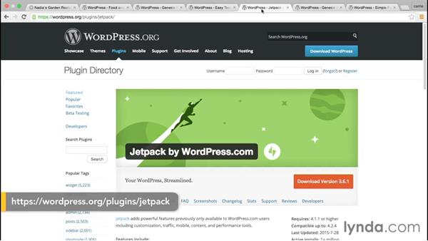 Roundup of plugins for this course: WordPress and Genesis DIY: Restaurant Website
