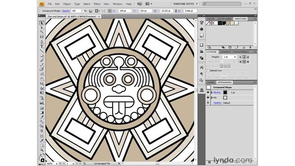 Creating a pattern fill: Illustrator CS4 One-on-One: Fundamentals