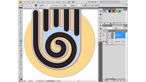 Using the Reshape tool: Illustrator CS4 One-on-One: Fundamentals