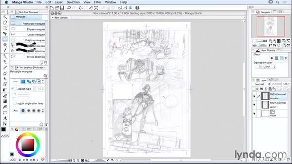 Using the selection tools: Manga Studio Essential Training