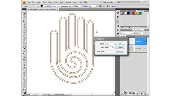 Using the Offset Path command: Illustrator CS4 One-on-One: Fundamentals
