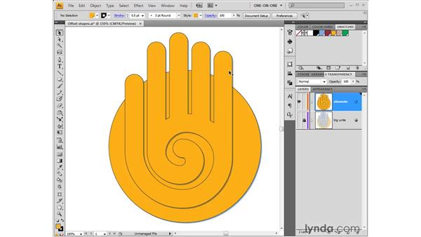 Styling and eyedropping: Illustrator CS4 One-on-One: Fundamentals