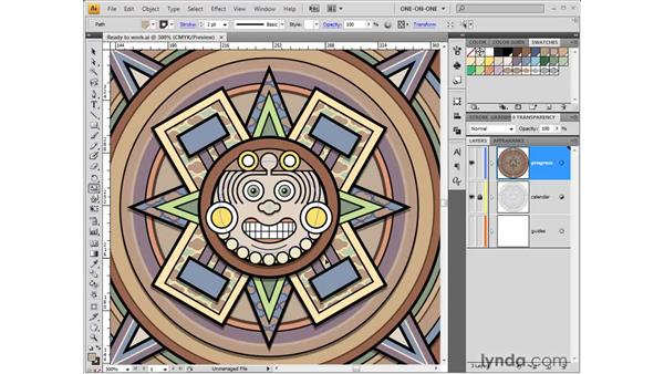 Scale and clone: Illustrator CS4 One-on-One: Fundamentals