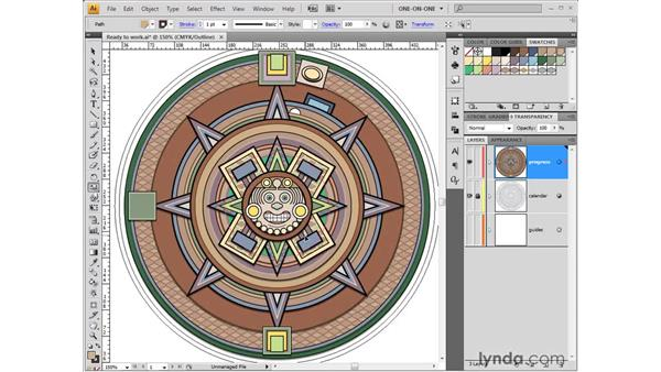 Enlarge and stack: Illustrator CS4 One-on-One: Fundamentals