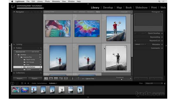 Synchronizing a folder: Exploring Lightroom: Managing Photo Catalogs