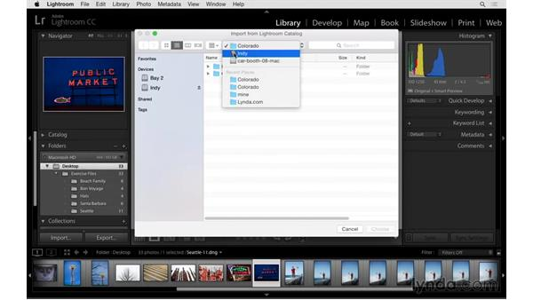 Merging two catalogs: Exploring Lightroom: Managing Photo Catalogs