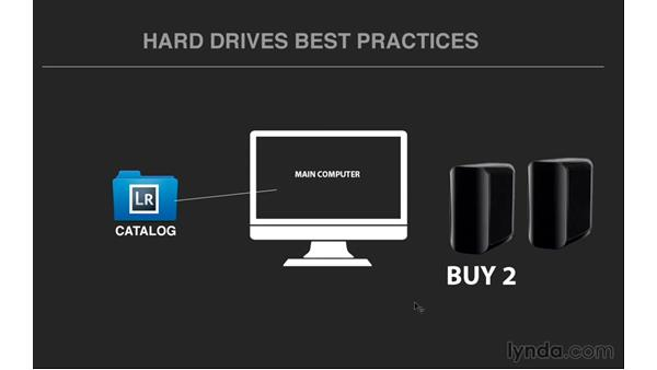 Working with hard drive best practices: Exploring Lightroom: Managing Photo Catalogs