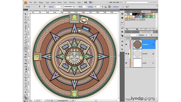 Using the Rotate tool: Illustrator CS4 One-on-One: Fundamentals
