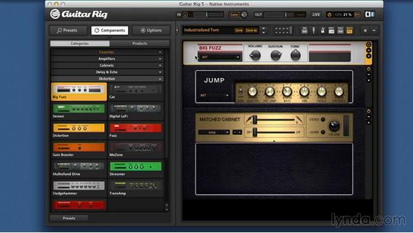 Classic effects and emulations: Signal Processing with GUITAR RIG