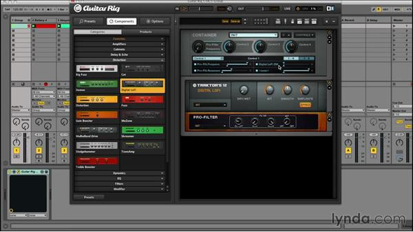 Building performance racks and using macros: Signal Processing with GUITAR RIG