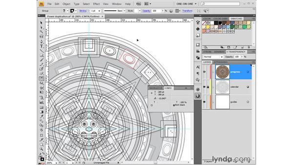 Series rotation (aka power duplication): Illustrator CS4 One-on-One: Fundamentals