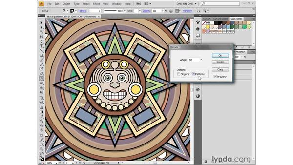 Transforming the tile patterns: Illustrator CS4 One-on-One: Fundamentals