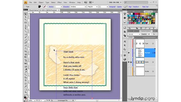 Creating a new text block: Illustrator CS4 One-on-One: Fundamentals
