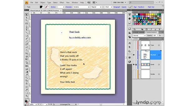Working with point text: Illustrator CS4 One-on-One: Fundamentals