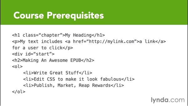 What you should know before watching this course: CSS for EPUB