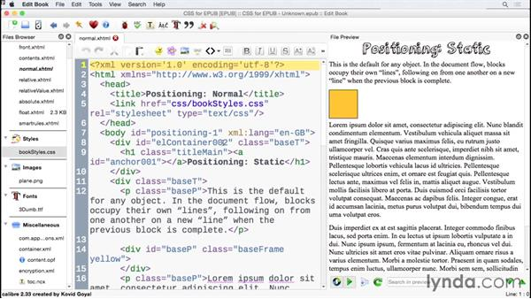 Using the exercise files: CSS for EPUB