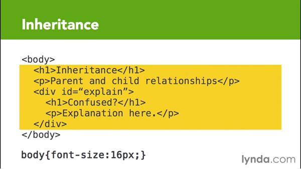 Understanding the concept of inheritance: CSS for EPUB