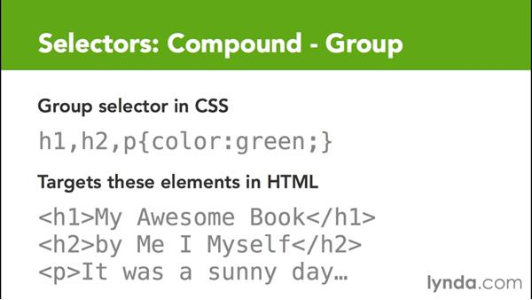 Targeting elements with group selectors: CSS for EPUB