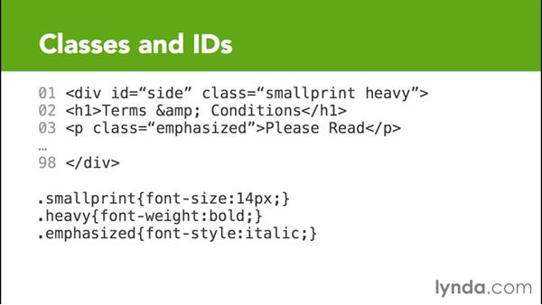 Using classes and IDs with compound selectors: CSS for EPUB