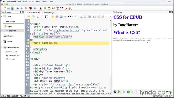Discovering how Cascading Style Sheets are implemented: CSS for EPUB
