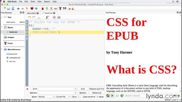 Including comments inside CSS: CSS for EPUB