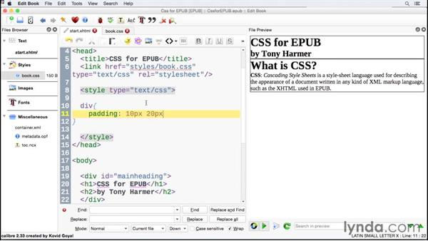 Writing more efficient code with shorthand notation: CSS for EPUB