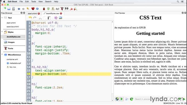 Including margins and padding: CSS for EPUB