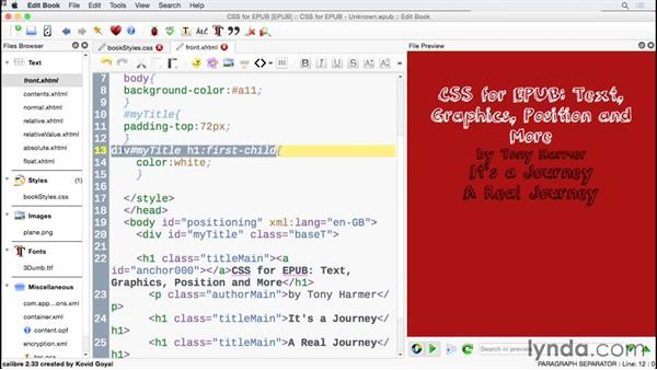 Working with some clever CSS selectors: CSS for EPUB