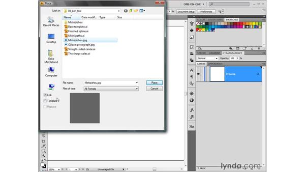 Placing an image as a tracing template: Illustrator CS4 One-on-One: Fundamentals