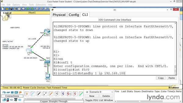 Configuring HSRP: CCNA ICND2 Essential Training