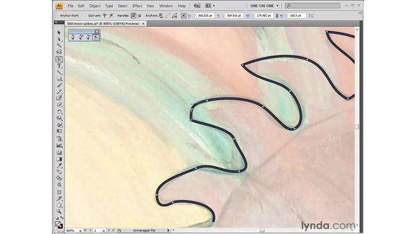 Converting anchor points: Illustrator CS4 One-on-One: Fundamentals