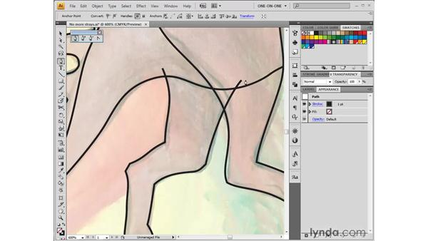 Separating and closing paths: Illustrator CS4 One-on-One: Fundamentals