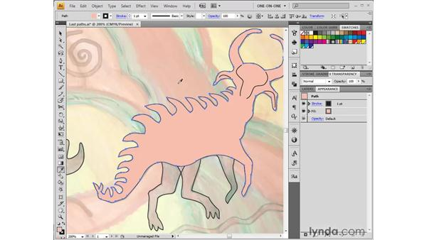 Eyedropping template colors: Illustrator CS4 One-on-One: Fundamentals