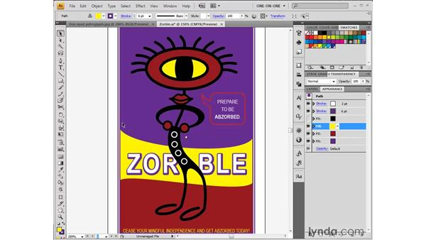 Exploring the Appearance palette: Illustrator CS4 One-on-One: Fundamentals