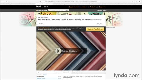 Branding courses at lynda.com: Creating Brand Identity Assets