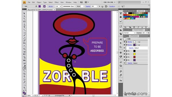 Lifting fills and selecting through shapes: Illustrator CS4 One-on-One: Fundamentals