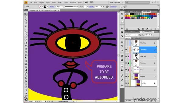Lassoing and scaling points: Illustrator CS4 One-on-One: Fundamentals