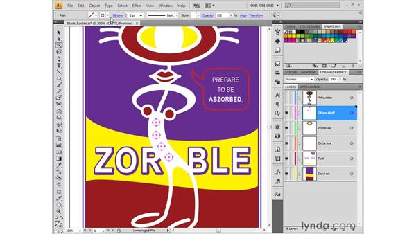 Using the Magic Wand tool: Illustrator CS4 One-on-One: Fundamentals