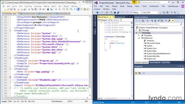 Exploring the internals of project files: Visual Studio 2015 Essentials 03: Exploring Projects and Solutions