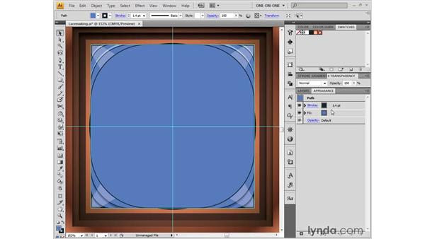 Eyedropping live effects: Illustrator CS4 One-on-One: Fundamentals