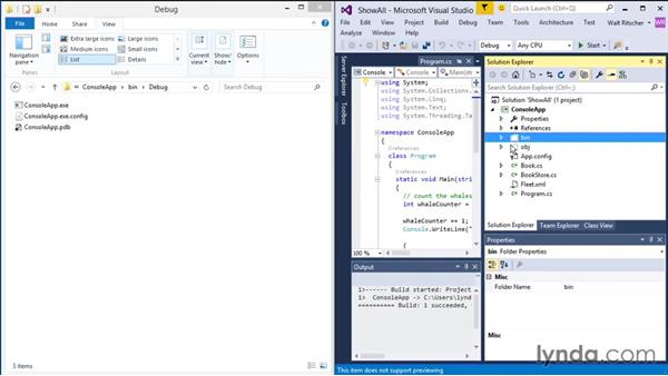 Showing All Files: Visual Studio 2015 Essentials 03: Exploring Projects and Solutions